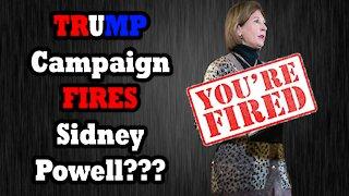 Trump Legal Team FIRES Sidney Powell?