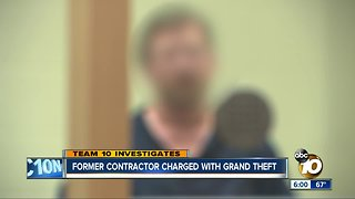 Former San Diego contractor charged with grand theft