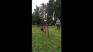 Slow motion agility slalom
