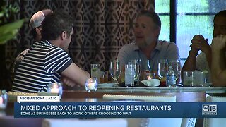 Mixed approach to reopening restaurants