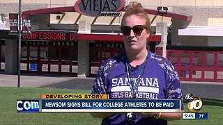 Governor signs bill allowing college athletes to get paid