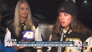 Mock crash scenario shows Ray-Pec High School students dangers of distracted driving