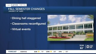 University of Tampa classes start, officials put many safety precautions in place