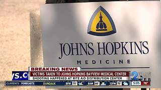 Victims taken to Johns Hopkins Bayview Medical Center