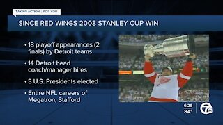 13 years since Red Wings 2008 Stanley Cup win