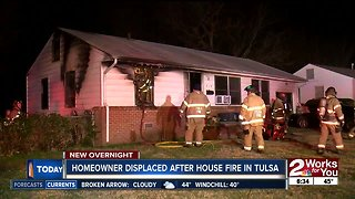 Homeowner displaced after house fire in Tulsa