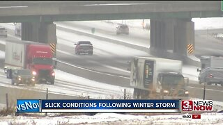 Slick Conditions Following Winter Storm