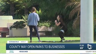 County may open parks to businesses