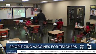 San Diego County uses health equity to prioritize teacher vaccines