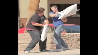 PILLOW FIGHTING IN THE HOOD!   *Prank Gone Wrong*