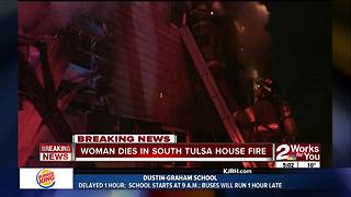 Woman killed in South Tulsa house fire
