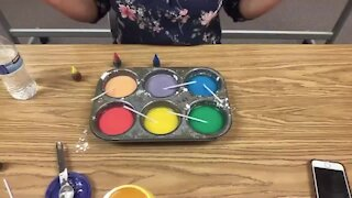 Science Sundays: Making Chalk Paint with Mom