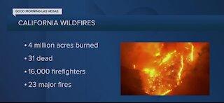 California wildfire numbers update