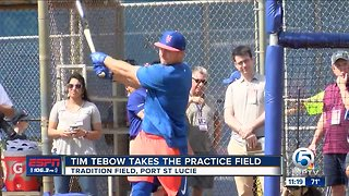 Tim Tebow reports to Spring Training