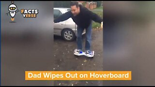 Dad Wipes Out on Hoverboard