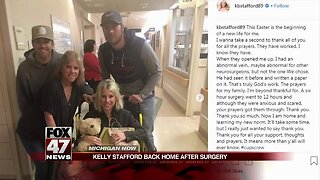 Kelly Stafford returns home after brain surgery
