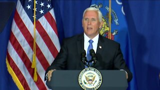 Pence highlights law and order during Wisconsin visit