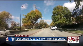 Thousands of uninsured drivers to be notified