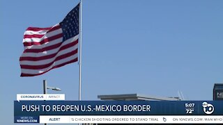 Local officials push to reopen US-Mexico border