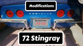 72 Corvette Modifications