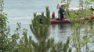 Emergency responders discuss river swimming safety