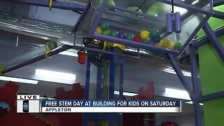Learning more about free STEM day at the Building For Kids in Appleton