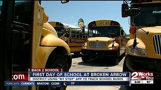 Broken arrow school district using app to track school buses