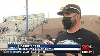 Bakersfield Christian kicks off football season, interview with Coach Darren Carr