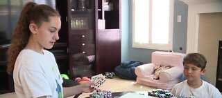 Las Vegas families having fun at home
