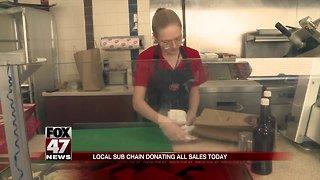 Local sub chain donating sales