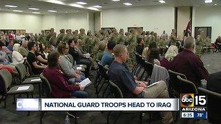 Arizona National Guard troops heading to Iraq