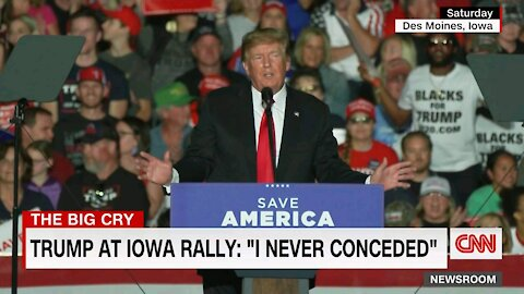 DONALD TRUMP AT IOWA RALLY: I NEVER CONCEDED.
