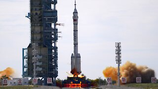 China Launches First Crew To New Space Station