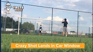 Crazy Shot Lands in Car Window