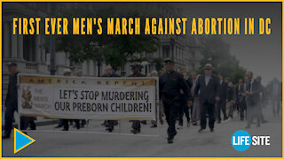 Hundreds gather for first ever Men's March against abortion in DC