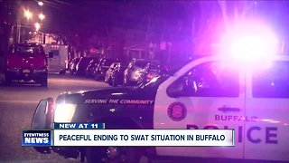 Peaceful ending to SWAT situation in Buffalo