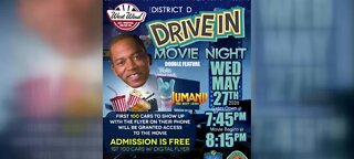 Drive-in movie night at West Wind drive-in Theater