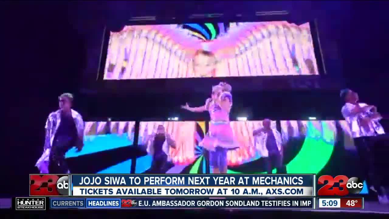 JoJo Siwa to Perform at Mechanics Bank Arena
