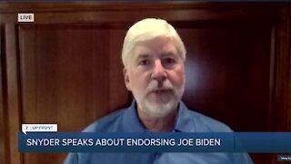 7 UpFront: Former Governor Rick Snyder speaks about endorsing Joe Biden