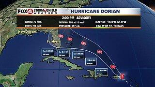 Hurricane Dorian -- 2pm Wednesday Latest