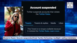 Marjorie Taylor Greene suspended from Twitter following 'multiple' policy violations