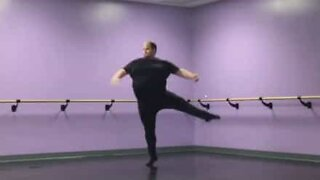 Unlikely ballet dancer shows off his amazing skills