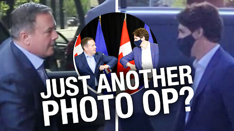 Trudeau visits Calgary: makes no stop at churches, takes no tough questions
