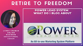Power Lead System - What Do I Blog About