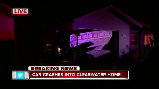 Driver crashes vehicle into home in Clearwater