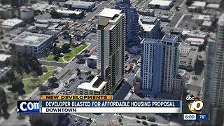 Developer blasted for affordable housing proposal