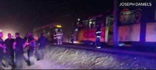 People injured in train crash