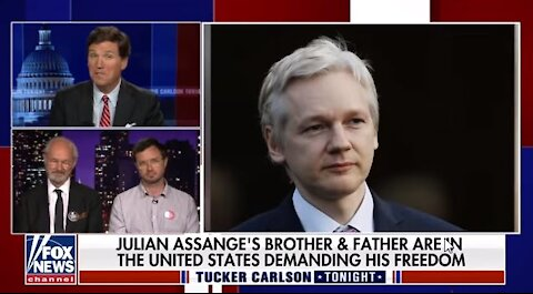 Julian Assange's Father & Brother Talking To Tucker Carlson