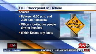 DPB holding dui checkpoint Friday