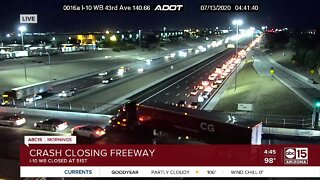 I-10 shut down near 51st Avenue due to crash